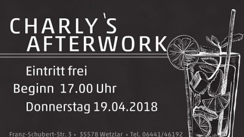 Neue Eventreihe: Charlys After-Work | 19.04.2018