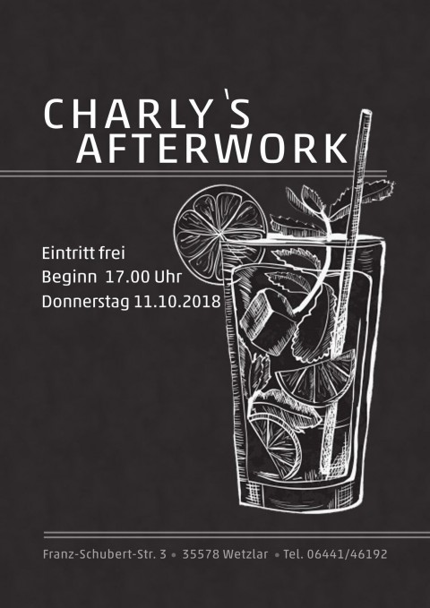Charlys After-Work – Vol. III | 11.10.2018